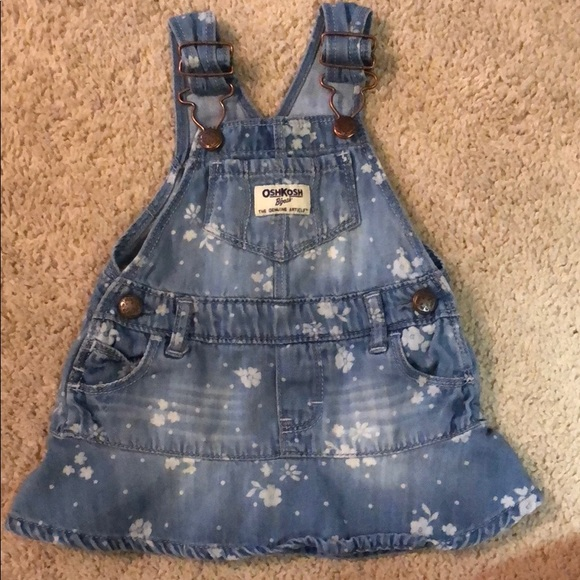 660e83d3d OshKosh B'gosh One Pieces | Baby Girl 6month Dress Overalls Like New ...